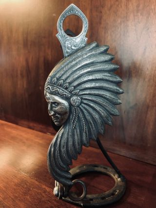 Vintage Chiseled Sterling Silver Chief
