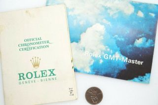 Vintage Rolex Gmt Master Instruction Book / Booklet And Papers C1976 $1 N/res