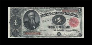 "1891 United States Treasury Note $1 "" Rare "" ( (gem Unc))"