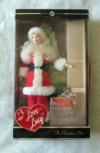 Rare Barbie: I Love Lucy,  The Christmas Show,  Ethel Mertz As Santa Claus,  Nrfb