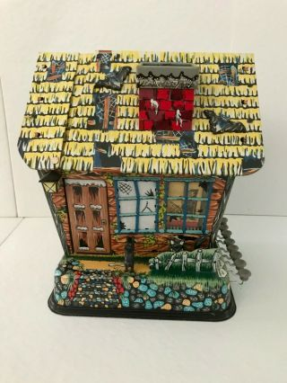 Vintage Marx Hootin Hollow Haunted House Tin Battery Operated Toy Complete