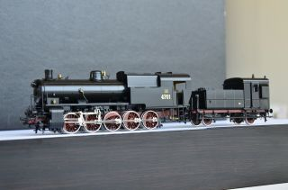 Micro Metakit 05900h Italian Fs Gr.  470 Steam Locomotive Rare