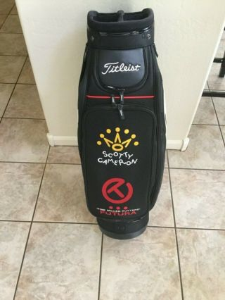 Titleist Scotty Cameron Embroidered Shop Display Staff Bag.  Rare
