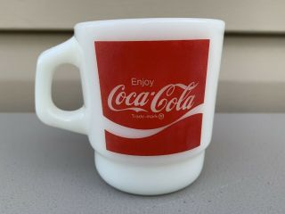 Rare Fire King Oven Proof Coca Cola Stackable Mug
