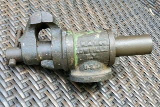 Fulton Machine & Vise Co Lowville N.  Y.  Gunsmith Jewelers Small Antique Vise