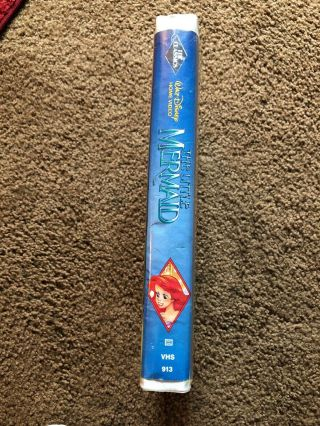 The Little Mermaid Rare Black Diamond Edition (VHS,  1990) Banned Cover 2