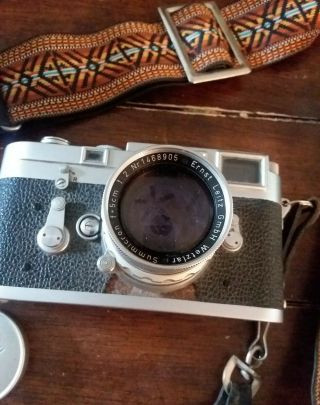 Vintage Leica M3 with strap 4
