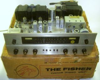 Vintage The Fisher 800 - C Am/fm Stereo Receiver W/box - 24 Pics