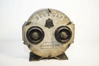 Very Rare Bell Gap Quenched Rotary Spark Gap For Wireless Telegraphy.  Impressive
