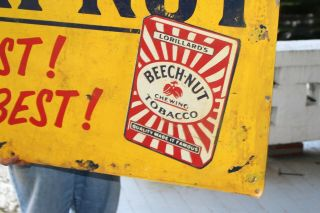 Large Vintage 1950 ' s Beech - Nut Chewing Tobacco Gas Oil 48
