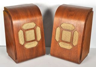 Vtg Pair Wood Cabinets Only Western Electric 755a Ks12046 Loudspeaker