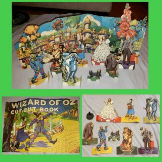 Vtg 1940 The Wizard Of Oz Uk Judy Garland Cut Out Paper Doll Toy Mgm Film Promo