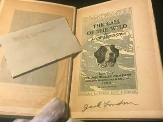 Rare The Call Of The Wild 1903 1st Edition 1st Printing Signed Jack London