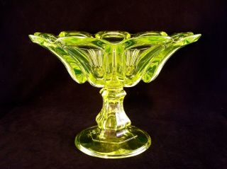 Rare Sandwich Canary Flint Pressed Loop Large Compote