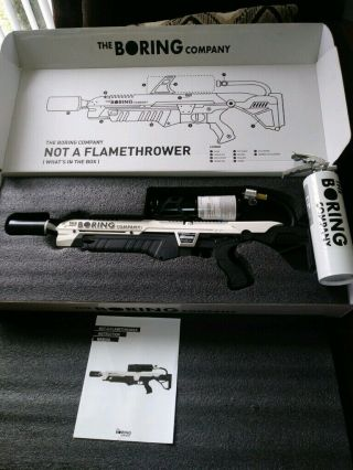 The Boring Company Not - A - Flamethrower,  Extinguisher (never Fired) Low Sn Rare