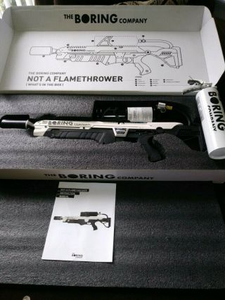The Boring Company Not - a - Flamethrower,  Extinguisher (NEVER FIRED) Low SN Rare 2
