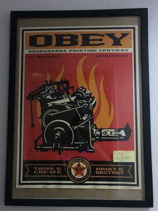 Obey Giant Shepard Fairey Artist Proof Edition 2000 Print Ultra Rare