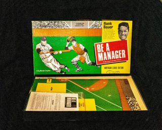 Rare Hank Bauer Be A Manager 1967 American League Baseball Board Game By Bamco