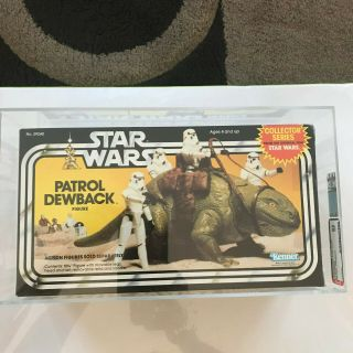 Vintage Kenner Star Wars Boxed Patrol Dewback Collector Series Afa 85 Nm,  Misb