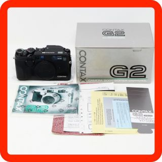 [rare Boxed N - Mint] Contax G2 Black Body [from Japan]