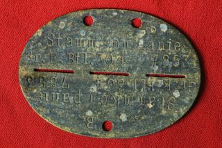 Relic Wwii German Wehrmacht Id Tag Dog Tag From Kurland Pocket