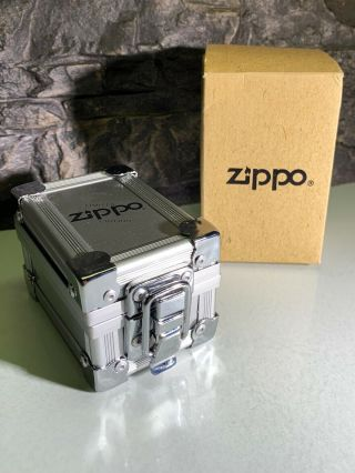 3D GOLDEN CHAIN LINK ZIPPO - WITH FLIGHT CASE - LTD EDITION - VERY RARE - 1998 4