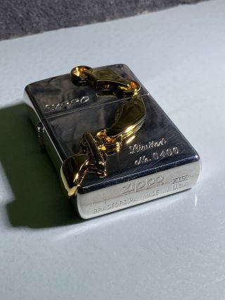 3D GOLDEN CHAIN LINK ZIPPO - WITH FLIGHT CASE - LTD EDITION - VERY RARE - 1998 6