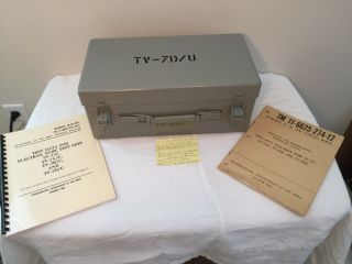 Vtg Re - Calibrated Tv - 7d/u Tube Tester With Manuals By Ecco Electronic Components