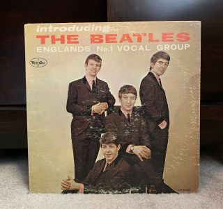 """Beatles Rare 1964 """" Introducing The Beatles """" Blank Back Mono Lp Version One"""