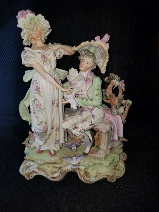 1946 German Porcelain Statuary Exquisitely Detailed In Museum