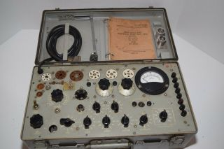 Vintage 1962 Us Army Test Set Electron Tv - 7/u Tube Tester