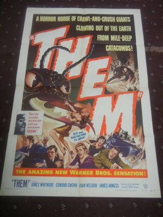 """ Them "" Vintage Movie 1 - Sheet Poster 1954"