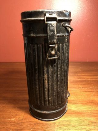 Ww2 German Wehrmacht Gas Mask Canister Container Box