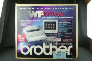 Vintage Brother Wp - 5600 Mds Word Processor & Monitor Electric Typewriter