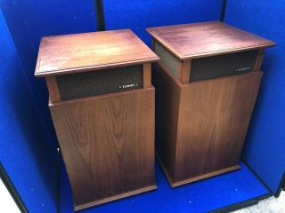 Vintage Tannoy Monitor Gold Lsu/hf/12/8 Orbitus Speakers With Cabinets
