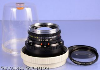 Hasselblad Zeiss Planar 100mm F3.  5 C T Black Lens,  Chrome Ring Rare