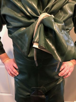 Rare Vintage Aquala Rubber Suit Drysuit XL 3