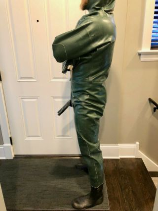 Rare Vintage Aquala Rubber Suit Drysuit XL 8