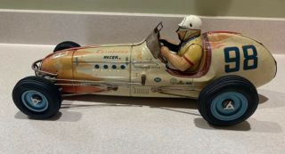 Vintage 1952 Yonezawa Champion Troy Ruttman 98 Indy Friction Racer