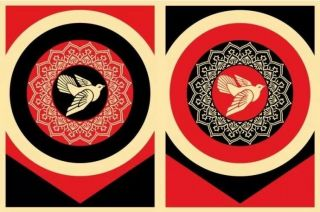 Shepard Fairey Obey Giant Peace Dove Set Signed Numbered Screen Prints Rare Kaws