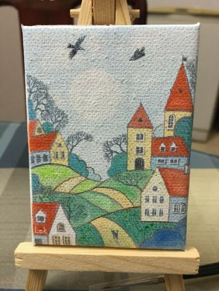 Aceo Hand Painting Oil Painting On Canvas - Dreamland By Chi Lok