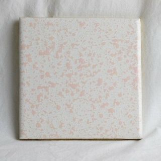 Vintage Florida Tile - Venetian Pink Speckled Textured - Very Rare Color