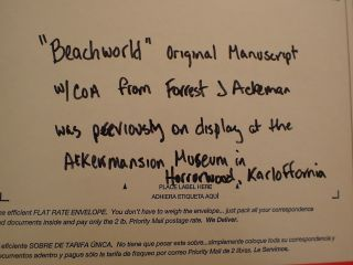"Stephen King Manuscript For "" Beachworld "" Soon A Motion Picture Rare"
