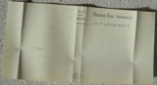 Shadow Over Innsmouth – H.  P.  Lovecraft Rare First Edition