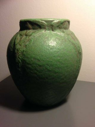 Rare large early Van Briggle Arts and Crafts style pot 525,  dated 1906. 5