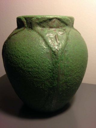 Rare large early Van Briggle Arts and Crafts style pot 525,  dated 1906. 6