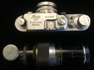 Vintage Leitz Leica Camera Box System 1939 IIIB,  3 lenses and accessories 5