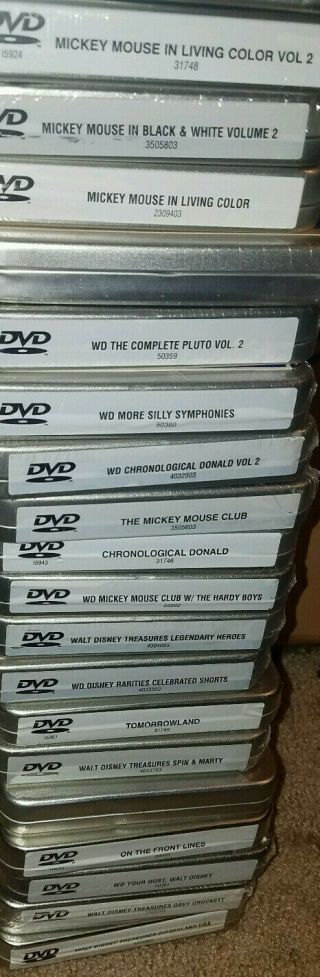 RARE SET 22 DISNEY TREASURES DVDs MOST TINS DONALD MICKEY PLUTO 10