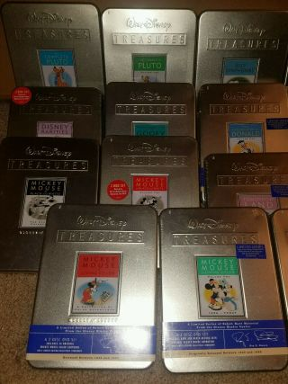 RARE SET 22 DISNEY TREASURES DVDs MOST TINS DONALD MICKEY PLUTO 2
