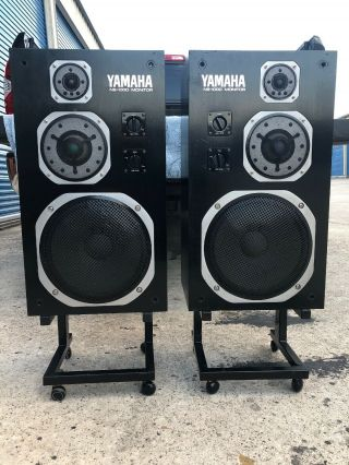 Vintage Yamaha Ns - 1000m Studio Monitors Weight 72lb Each With Stand